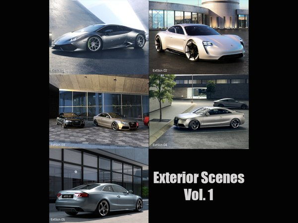 3D exterior scenes vol 1
