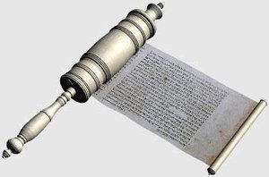 3d model hebrew scroll