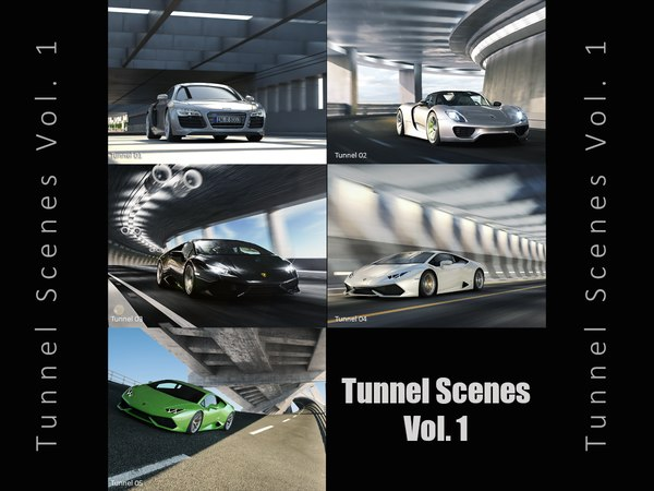3D cgi tunnel scenes vol 1