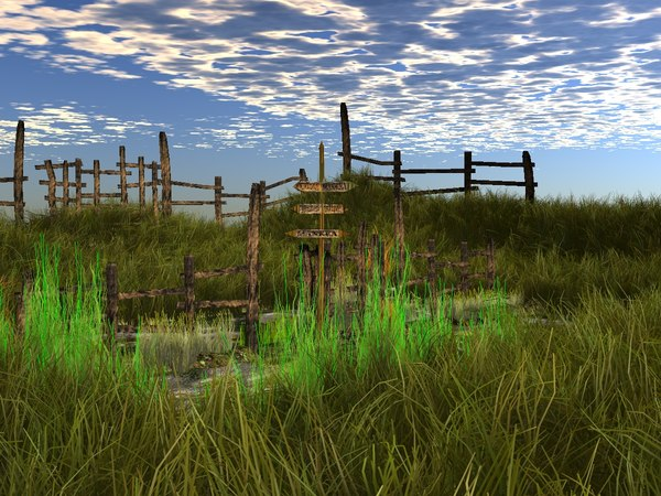 3d fence meadow