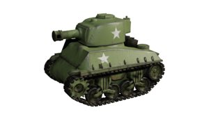 mini sherman tank 3D