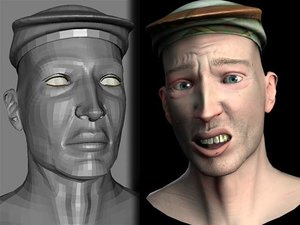 3d head articulated realistic