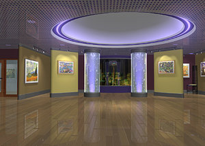 interior museum 3d model
