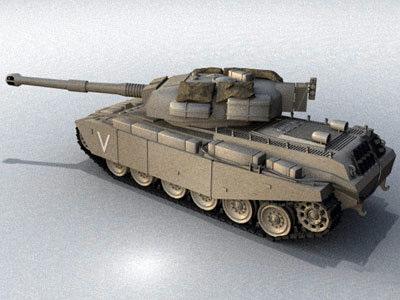 3d model centurion tank