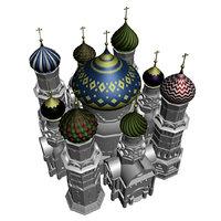 russian church dome 3d model