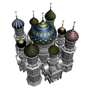 russian church dome 3d model