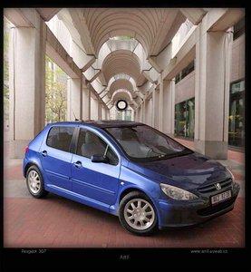 307 peugeot car 3d model