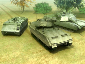 army vehicles abrams 3d model