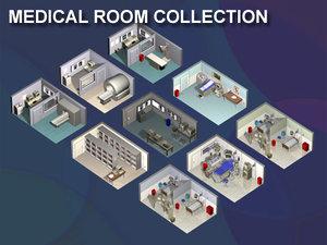 medical rooms 3d model