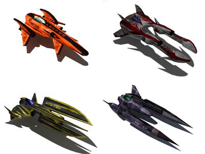 complete racing ship 3d model