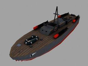 3d model pt boat