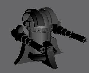 gattling tower 3d model