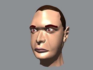 3d albert head human
