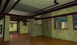 3d frank lloyd house maps model
