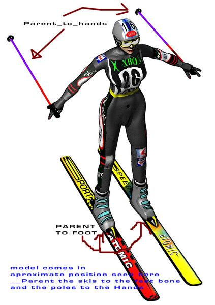 ski skier racer 3d lwo
