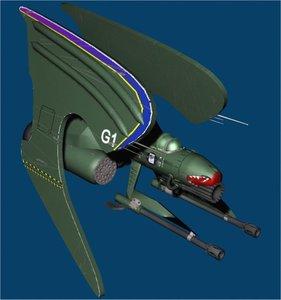 futuristic space fighter max