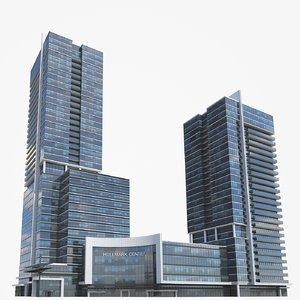 3D 2 buildings