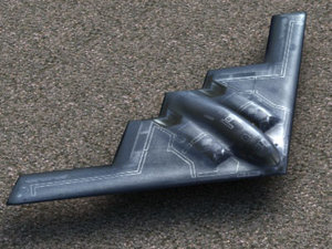 3d model b2a spirit stealth bomber