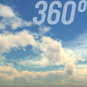 360° Sky Texture: Cloudy Noon