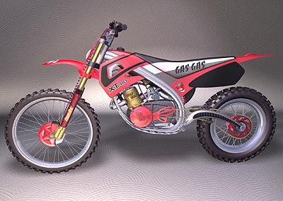 motocross motorcycle bikes 3d model