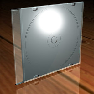 3d model cd case slim