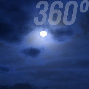 360° Sky Texture: Full Moon