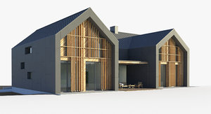 3D villa house xl model