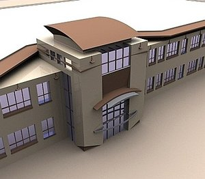 3ds max modern office building