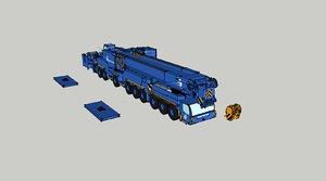 3D simple liebherr ltm 1750-9