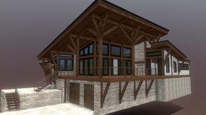 3D incomplete superfuntimes fancy cabin model