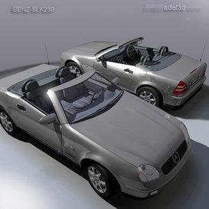 mercedes convertible vehicle 3d model