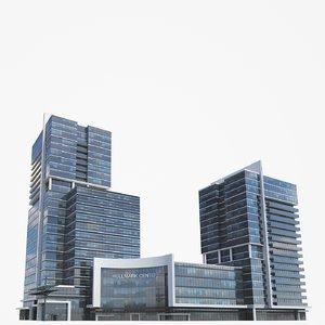 2 buildings 3D model