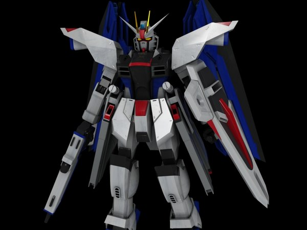 free zgmf-x10a freedom gundam suit 3d model