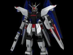 free zgmf-x10a freedom gundam suit 3d model
