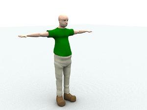 3d character facial animate model