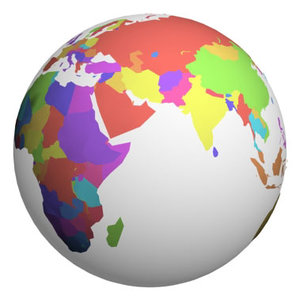 globes colored package country 3d model