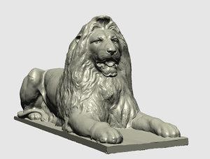 london trafalgar square lion statues 3D