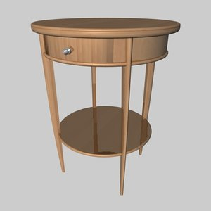 nightstand wooden 3d x