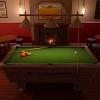 pool table scene 3d model