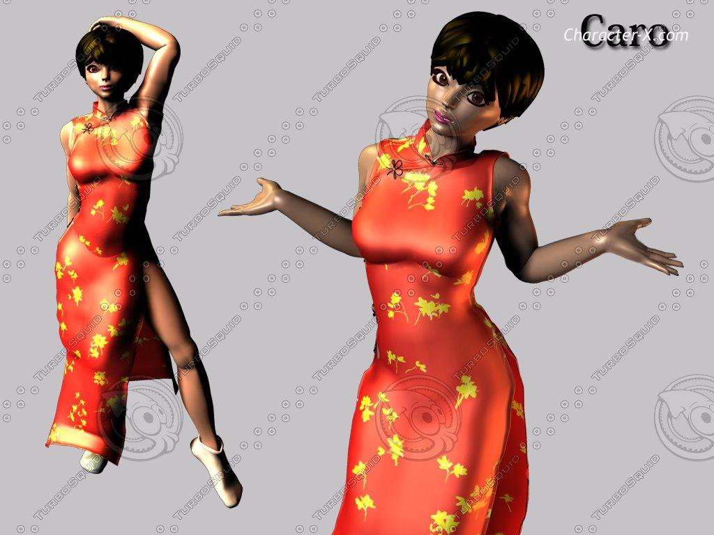 poser character 3d model