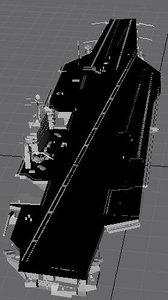 uss stennis 3d model