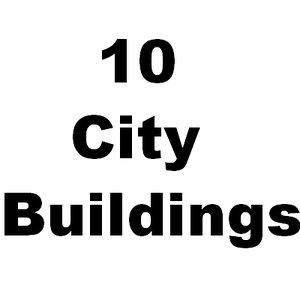 10 city buildings 3d 3ds