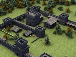3d model castle forts fantasy