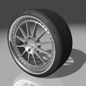 hre 448r wheel tires 3d max