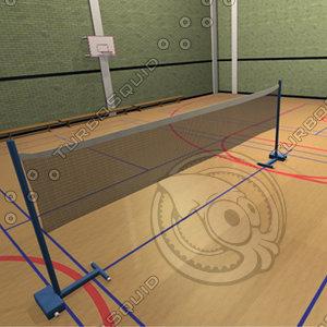 3d model sports hall sportshall
