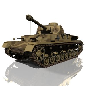 3d model german wwii battle tank