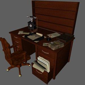 3d desk old model