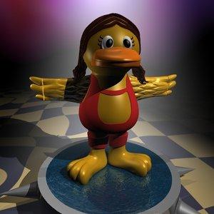 3d model toy bird