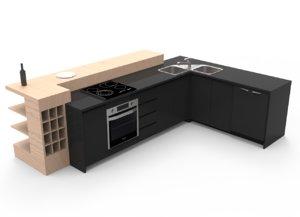 kitchen island 3D model
