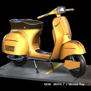 vespa 180 3d model